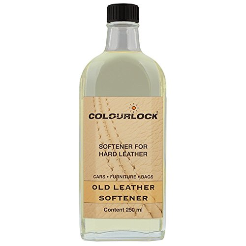 Colourlock Leather Softener Oil - ideal for restoring hard leather making it soft and supple. Suitable for car seats, furniture suite, sofa settees, armchairs, handbags & suitcases (250 ml)