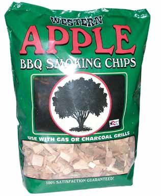 Western Apple Smoking Chips, 2-Pound Bags (Pack of 6) by Western