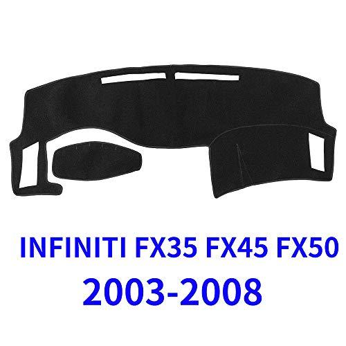 JIAKANUO Auto Car Dashboard Carpet Dash Board Cover Mat Fit for Infiniti FX35 FX45 FX50 2003-2008 (Black) MR040