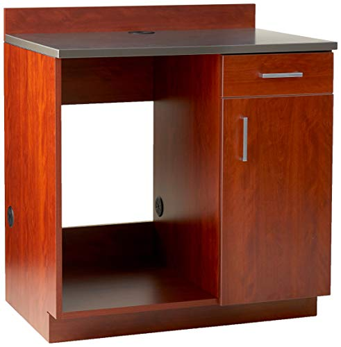 Safco Products Modular Hospitality Breakroom Base Cabinet Appliance Mahogany Base/Rustic Slate Top