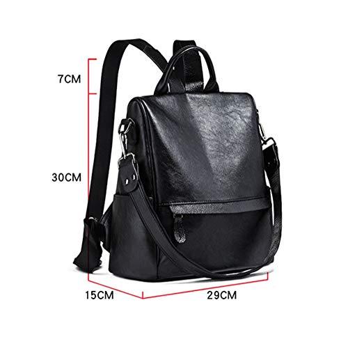 in donna Tote Brown Bags Lnkh viaggio a furto impermeabile Zaino da tracolla PU pelle borsa anti zaini Università F5qSZxTwI