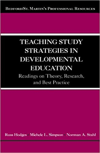 Teaching Study Strategies in Developmental Education: Readings on Theory, Research, and Best Practice (Bedford/St. Martin's Professional Resources)