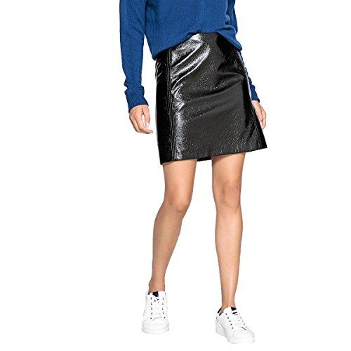 La Redoute Collections Womens Patent Vinyl Skirt Black Size US 8 ()