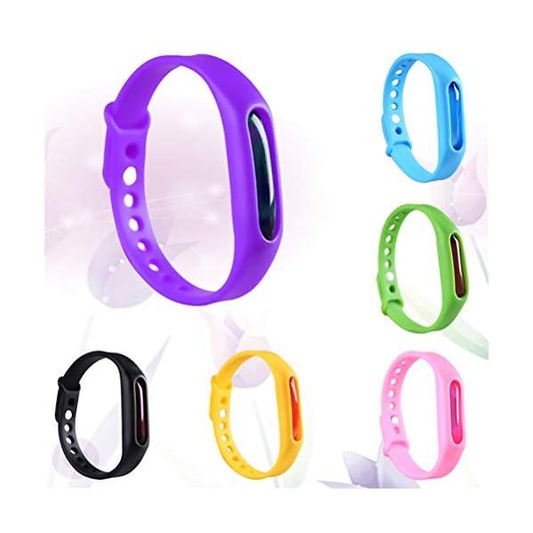 collectsound Anti Mosquito Pest Repeller Repellente per Insetti Bugs Cinturino Band Wristband 2 spesavip