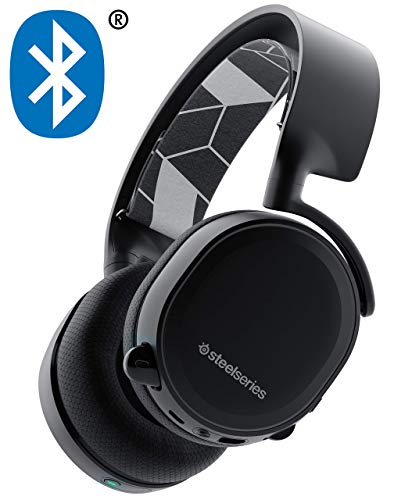 (SteelSeries 61485 Arctis Bluetooth All-Platform Gaming Headset for Nintendo Switch, PC, PlayStation 4, Xbox One, VR, Android and iOS - Black (Renewed))