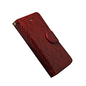 JBG Red Iphone 4/4S New Strawberry Spots Folio Wallet Leather Stand Case Card Slots Cover With Hanging Lace for Apple Iphone 4 4G 4S