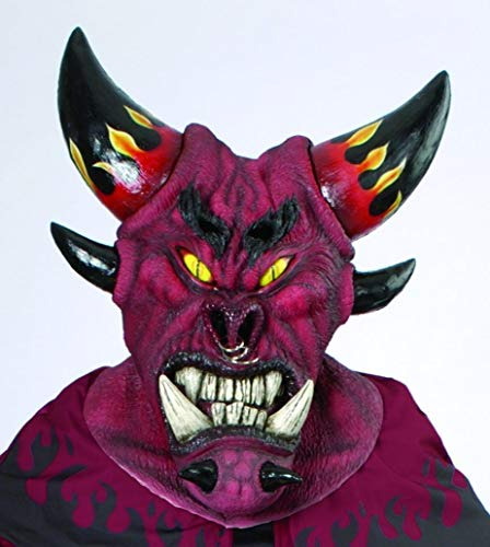 Diablo Tyrael Costumes - Dark Diablo Deluxe Large Mask Adult