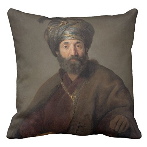 Aerosmith Costumes (Man In Oriental Costume C 1635 Oil On Canvas Throw Pillow Case)