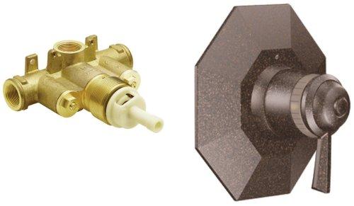 Moen TS3410ORB-S3371 Felicity ExactTemp Tub/Shower Valve Trim Kit with Valve, Oil Rubbed Bronze (Shower Moen Exacttemp Felicity)