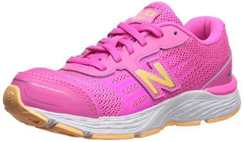 (New Balance Girls' 680v5 Running Shoe, Peony/Light Mango, 11 M US Little Kid)