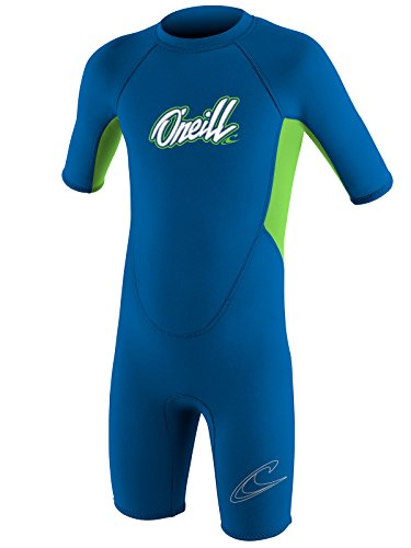 2mm Short Sleeve Boys Wetsuit (O'Neill Reactor toddler shorty wetsuit Youth 3 Ocean/dayglo (5127B))