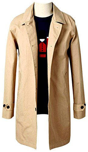 Men's Premium Pure Cotton Single Trench Mac Coat (Mac Coat)