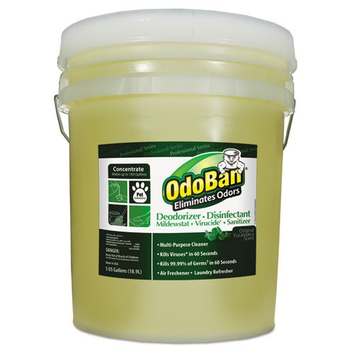OdoBan 9110625G Concentrated Odor Eliminator, Eucalyptus, 5 gal Pail by OdoBan