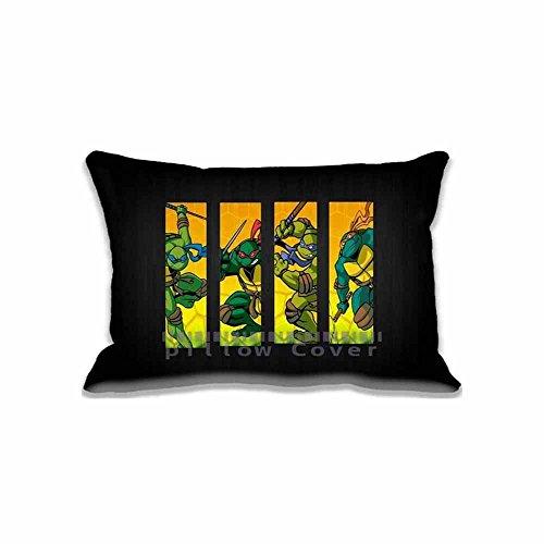 Custom Design Teenage Mutant Ninja Turtles Pillow Cases Zippered , Standard Queen Size Cartoons Pillowcase - 20X30inch Ninja Turtles Cushion Covers Two Size Print (Ninja Turtle Stamps compare prices)
