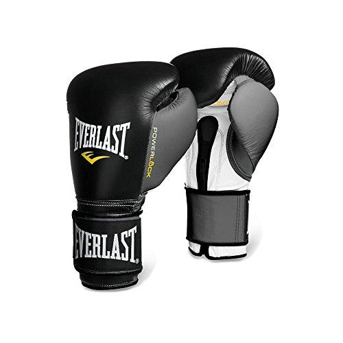 Everlast 16oz Powerlock Hook & Loop Training Gloves - Black/Grey