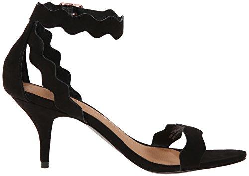 Sandalo Nero In Pelle Di Sandalo Da Donna