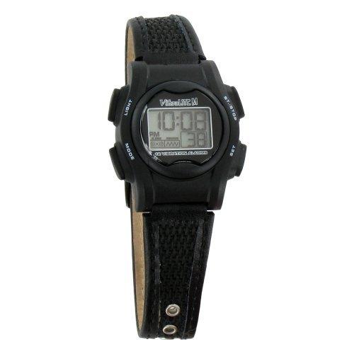 VibraLITE Mini 12-Alarm Vibrating Watch - Black by VibraLITE