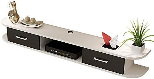 TVボード テレビキャビネットホーム浮動テレビキャビネットウォールマウントエンターテイメントユニットをスタンド テレビ台 (色 : White, Size : 120x24cm)