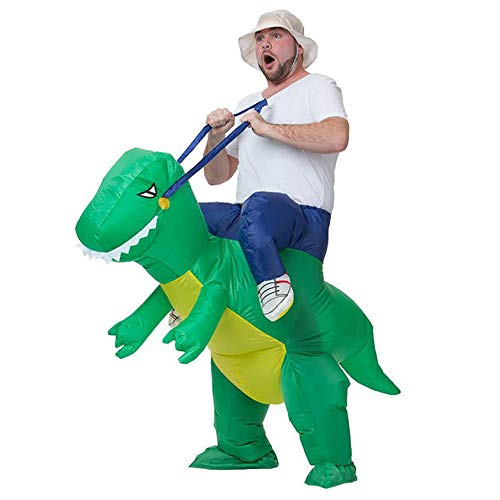 T-REX Dinosaur Inflatable Fancy Dress Suit Unisex Halloween Costume -