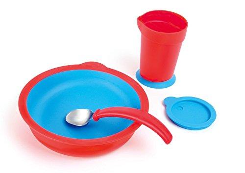Sha Design Eatwell Assistive Tableware Set, Red, 4 Piece