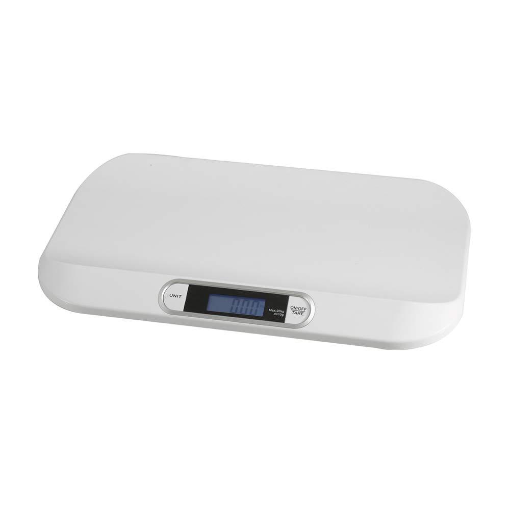 OUkANING Báscula electrónica inteligente de peso para bebés con gran pantalla LCD retroiluminada para cocina, cocina, alimentos con 3 modos de peso, 20 kg