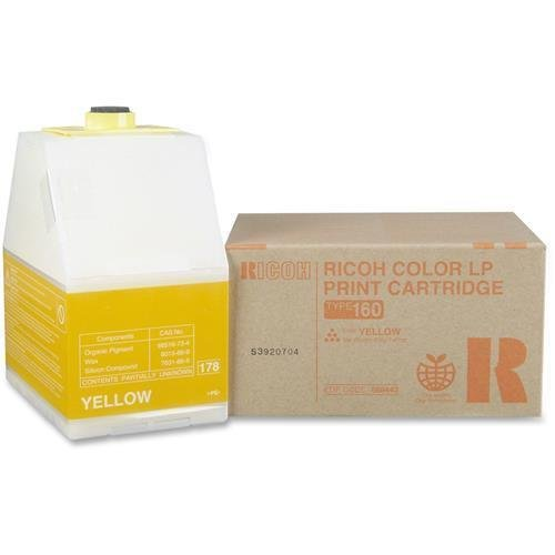(Ricoh PRINT CARTRIDGE TYPE 160 YLW 10 000 PAGE YIELD AT 5% COVERAGE (888443))