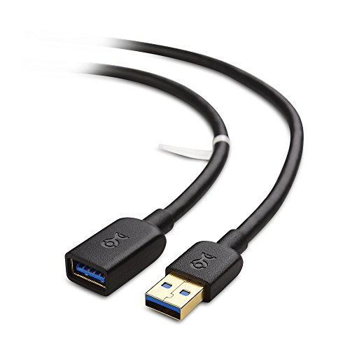 Cable Matters SuperSpeed USB 3.0 Type A Male to Female Extension Cable in Black 6 Feet