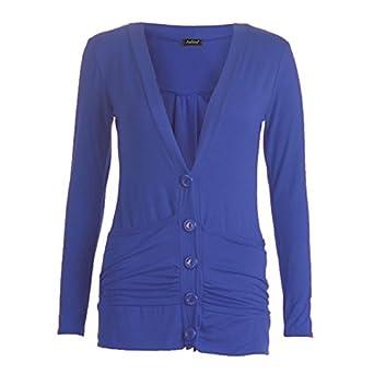 dd453ef7b0 Vogueland Womens Ladies Button Up Boyfriend Cardigan Top Long Sleeve  Cardigan Jumper lot size 8-26 (XL UK(16-18)