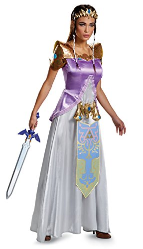 Disguise Women's Legend Deluxe Zelda Adult Costume, Multi, (Princess Zelda Costumes For Adults)