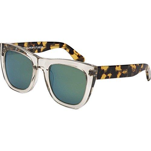Super Sunglasses Women's Gals Sportivo Sunglasses, Clear Tortoise/Green, One - Super Gals Sunglasses