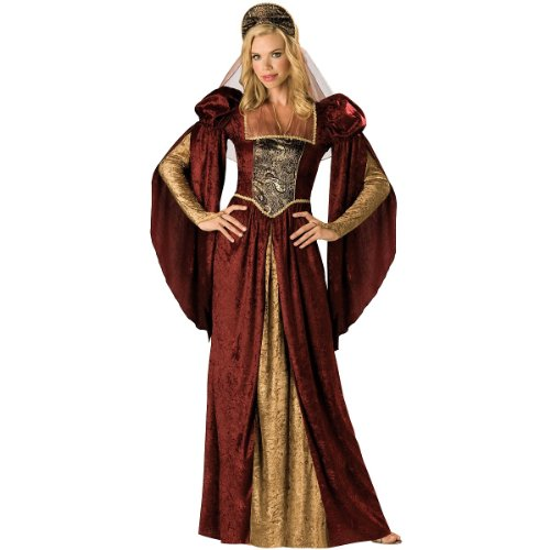 InCharacter Costumes Women's Renaissance Maiden Costume, Burgundy/Gold, Small ()