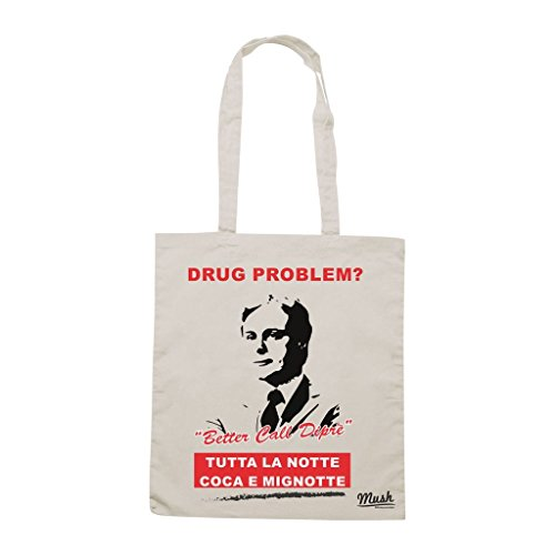 Borsa Dipre Saul Goodman - Heisenberg - Panna - Famosi by Mush Dress Your Style