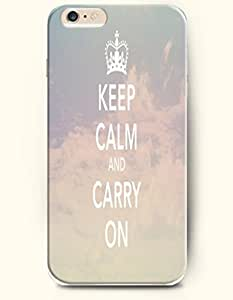 iPhone 6 Case,OOFIT iPhone 6 (4.7) Hard Case **NEW** Case with the Design of keep calm and carry on - Case for Apple iPhone iPhone 6 (4.7) (2014) Verizon, AT&T Sprint, T-mobile by icecream design