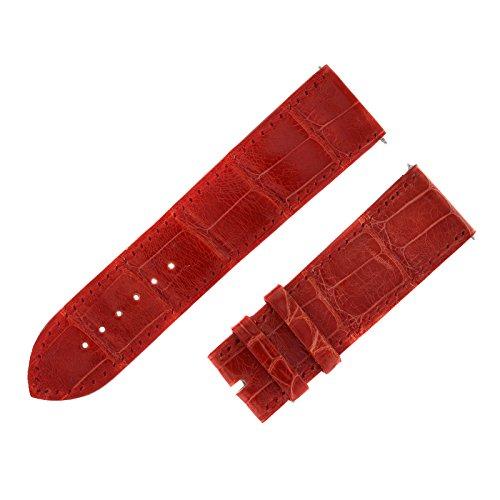 Franck Muller 24 - 22 mm Genuine Alligator Leather Red Watch Band by Franck Muller