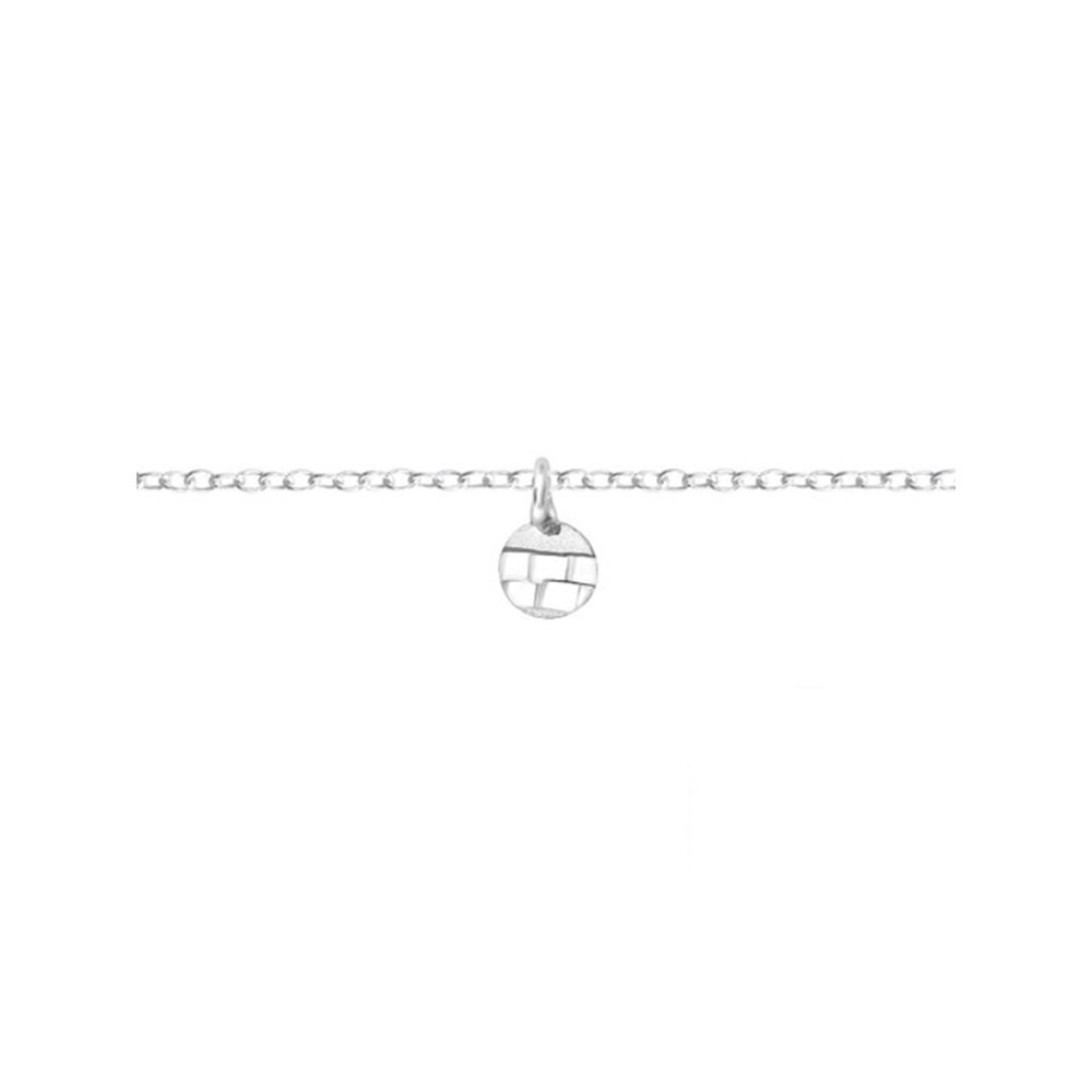 Worldjewelry 925 Sterling Silver Circle Silver Anklets