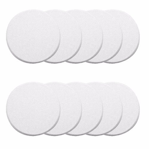 Wideskall White Round Door Knob Wall Shield Self Adhesive Protector (Pack of 10) ()