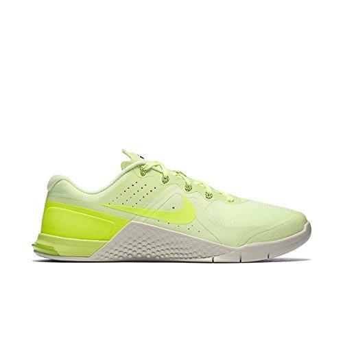 (NIKE Mens Metcon 2 Training Shoes Barely Volt/Bone/Black 819899-700 Size 9)