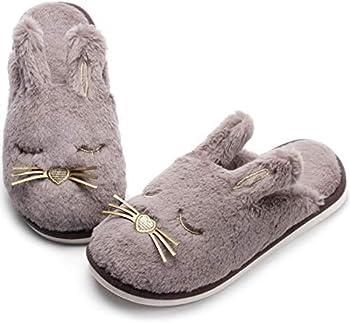 Caramella Bubble Fox Fleece Women's Slippers