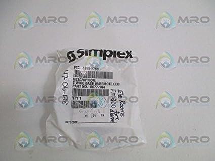 Simplex 4098 humo - detector de calor/termostato Base 4098 - 9788 SSD Base con