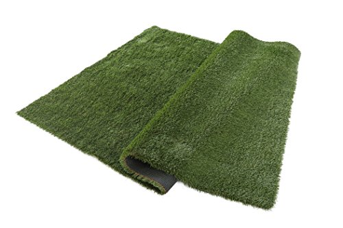 VerdeCasa Realistic Artificial Grass Rug Indoor/Outdoor Decorative Synthetic Grass Turf 1.57'' Pile Height 5'by 8' by VerdeCasa