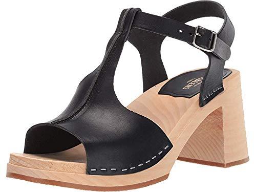 swedish hasbeens Women's Stitchy Sandal Black 38 B EU