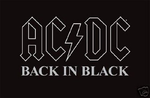 Hot Stuff Enterprise AC/DC Back in Black Poster 36 x 24in
