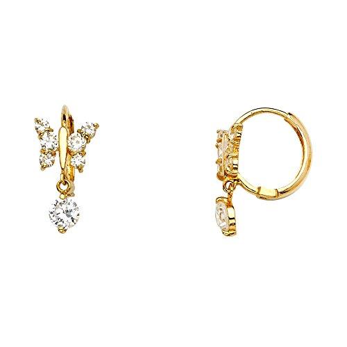 Butterfly Huggie Earrings...