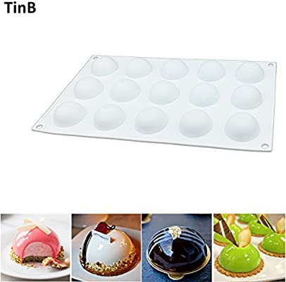 Amazon.com: Cookie Cutter|Cake Molds|3D Silicone Cake Mold Baking Tools Round Ball Shape Mousse Dessert Cake Mold Bakeware Maker Cupcake Muffin Pan molde|By ...