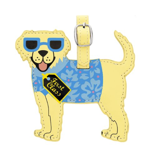 Little Gifts Golden Retriever Luggage Tag