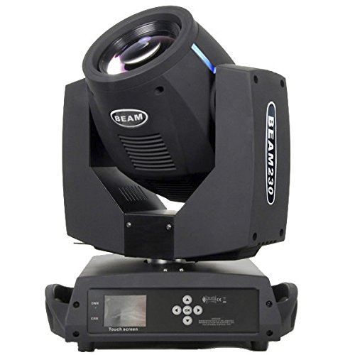 Ahlights 7R 230W Sharpy Beam Moving Head Light-DMX512 Channel Control, 17 Gobos and 14 Colors For Wedding Christmas Birthday DJ Disco KTV Bar Event Party