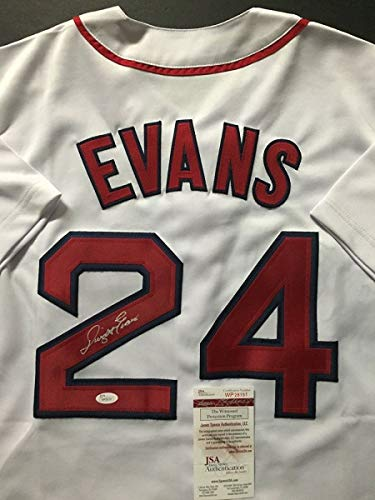 - Autographed/Signed Dwight Evans Boston White Baseball Jersey JSA COA