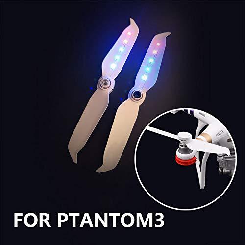 2018新発 Ayangg 簡単取り付け 軽量ブレード 2ピース (CW CCW) Low LEDライトミュートドローンプロペラ DJI Phantom 3 Best Low Noise 軽量ブレード 簡単取り付け 交換用パドル B07H82R3D6, 牡鹿町:c672e522 --- rsctarapur.com