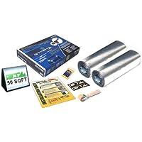 GTMAT 50 sqft Automotive Sound Deadener 50mil PRO – Noise Killer Installation Kit Includes: 50ft Roll format (2 rolls of 16in X 19ft), Instruction Sheet, Application Roller, GTMat Biodegradable Degreaser, GT MAT Decals