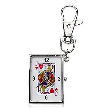 Unisex Poker aleación del modelo analógico de cuarzo llavero ...